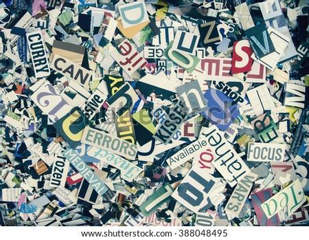 magazine confetti background
