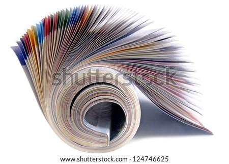 magazine isolated - stock photo