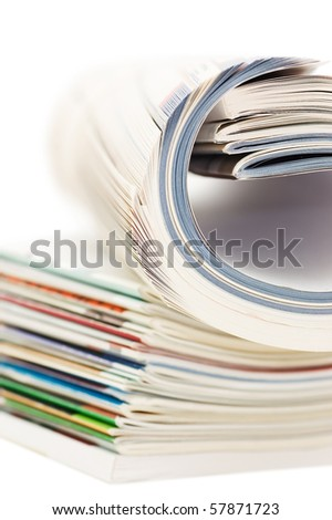 Magazine isolated on white background