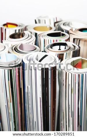 Magazine Rolled - stock photo