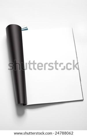 magazine's page - stock photo