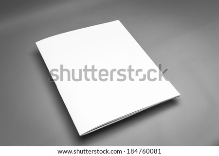 Magazine template ready for your artwork - stock photo