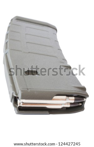 Magazine that holds thirty rounds for an assault rifle - stock photo