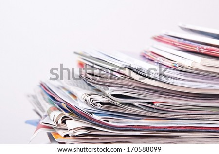magazines and newspapers - stock photo