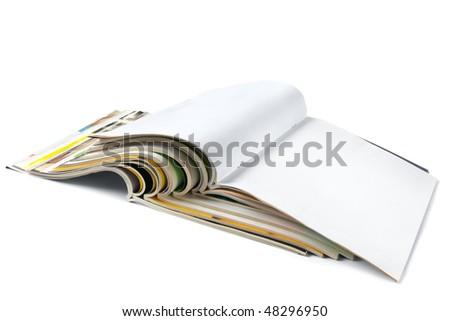 Magazines isolated - stock photo