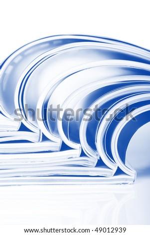Magazines over white - stock photo