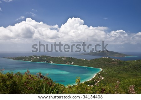 Magens Bay in St. Thomas, US Virgin Islands - stock photo