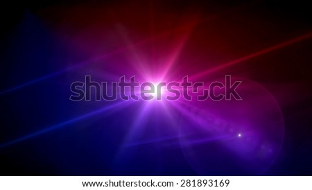 magenta and purple color star lens flare special effect