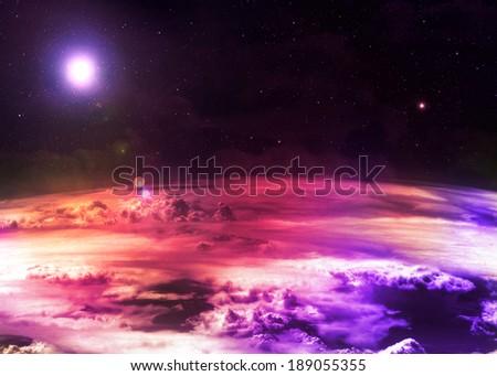 Magenta Atmosphere  - stock photo