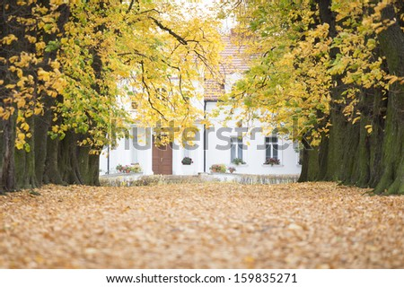 Magic Autumn in Poland -manor house