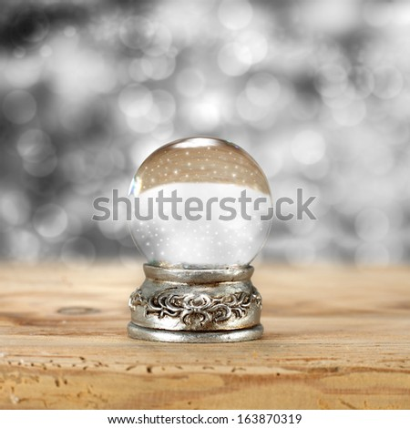 magic ball and sill  - stock photo