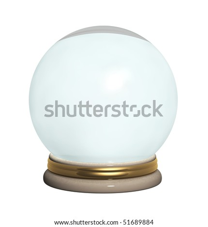 Magic ball. Object isolated over white
