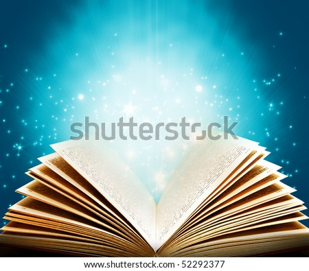 Magic book of fantasy stories - stock photo
