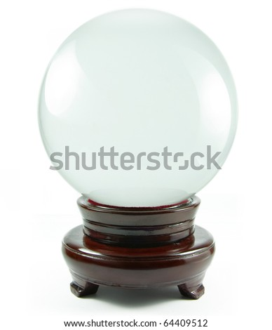 magic crystal ball isolated on a white background