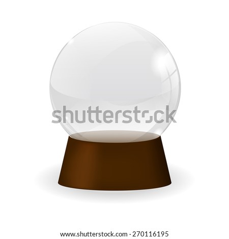 Magic crystal ball.  isolated on white background. Raster version - stock photo