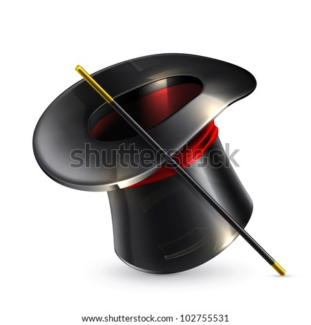 Magic cylinder hat, bitmap copy - stock photo