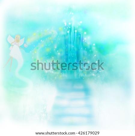 Magic Fairy Tale Princess Castle - stock photo
