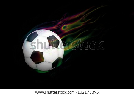 magic football. - stock photo