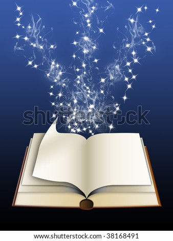 magic from the pages of the book - stock photo
