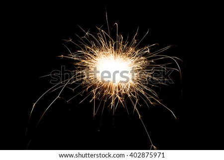 Magic glowing Flow sparks in the dark. - stock photo