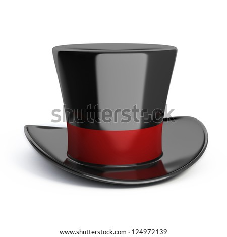 magic hat isolated - stock photo