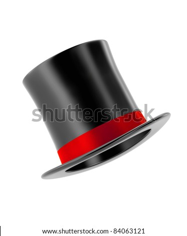 magic hat isolated on white background - stock photo
