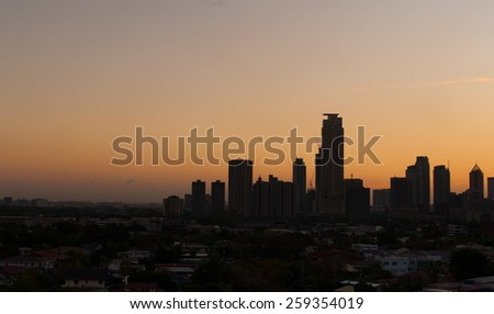 magic hour in Manila - stock photo