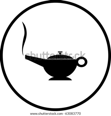 magic lamp symbol - stock photo