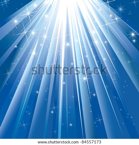 Magic Light With Space For Your Text. (in the gallery also available vector version of this image) - stock photo