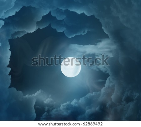 magic moon - stock photo