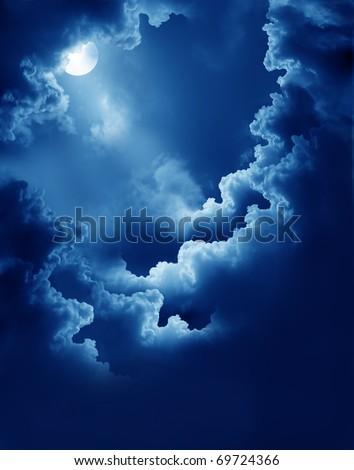 magic moon - stock photo