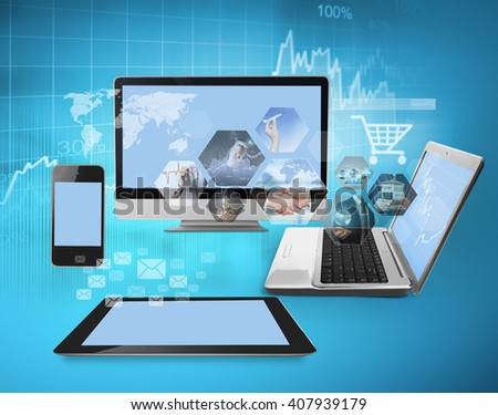 Magic newTechnology with social network structure  - stock photo