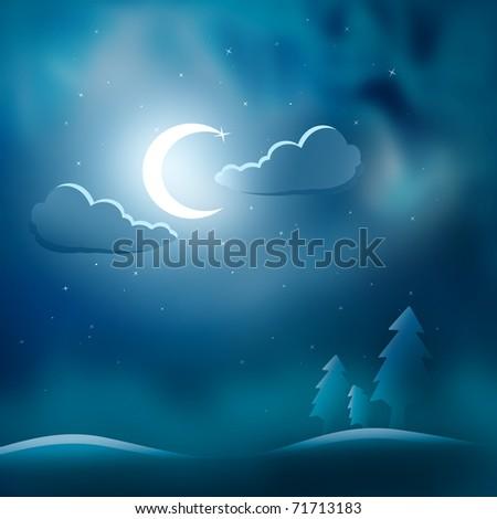 magic night - stock photo