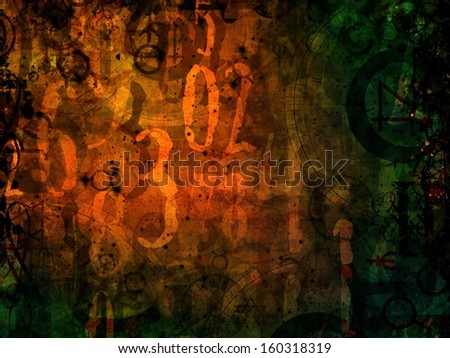 magic numbers astrology background dark illustration  - stock photo