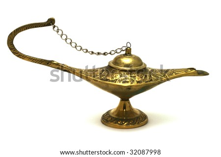 Magic Oil Lamp - stock photo
