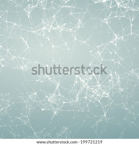 Magic silver abstract background. Connecting dots - stock photo