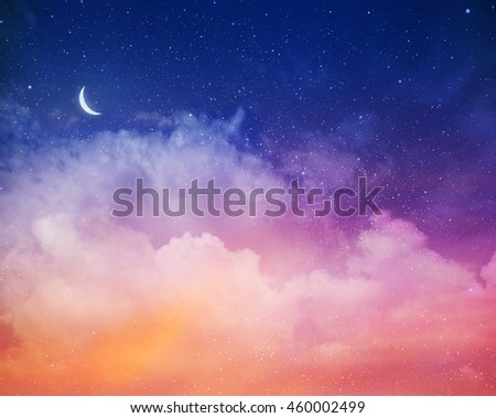 Magic sky background with stars