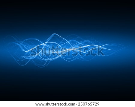 magic spell effect (blue colored,horizontal waves version)