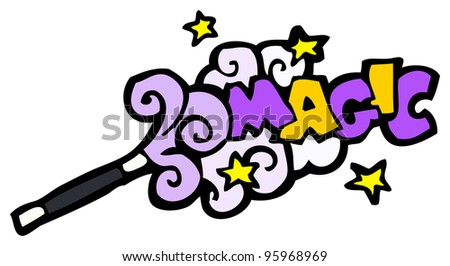 magic wand cartoon - stock photo