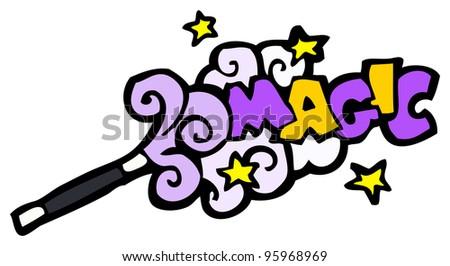 magic wand cartoon - stock photo