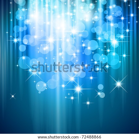 Magic Waterfall of lights for Suggestive Flyers - stock photo