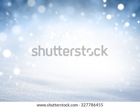 Magic white snow background in blurred lights explosion - stock photo