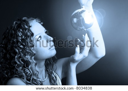 magic wisdom ball - stock photo
