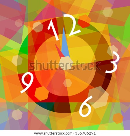 Magical clock, abstract mystical background - stock photo