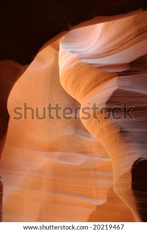 Magical colors of the Lower Antelope Canyon, created by flash floods, near Page, Arizona