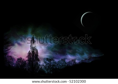 Magical Landscape - stock photo