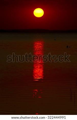 magical sunset - stock photo