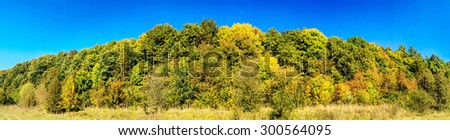 Magical view of the autumn landscape. - stock photo