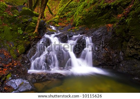 magical waterfall - stock photo