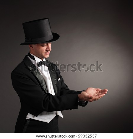 magician conjure - stock photo